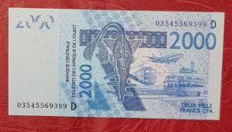 2000 Francs Banque Centrale Des états De L'Afrique De L'Ouest  Neuf - West African States