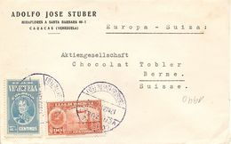 Venezuela, 1940,  Airmail Cover To Switzerland, Mi 267 ,mixed Franking, See Scans! - Venezuela