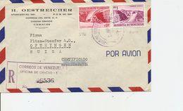Venezuela, 1956, Registertd Airmail Cover To Switzerland, Mi 1140+, Mixed Franking, See Scans! - Venezuela