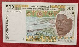 500 Francs Banque Centrale Des états De L'Afrique De L'Ouest  Neuf - West African States