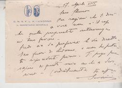 Livorno C.N.S.F.L.A. Regno Fascio 1935 - Documentos Históricos