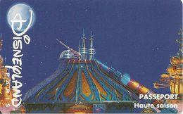 PASS-DISNEYLANDPARIS -1996-SPACE MOUNTAIN-ADULTE-V° N° S 049530 VERTICAL A Droite-TBE- - Pasaportes Disney