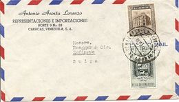 Venezuela, 1954,  Airmail Cover To Switzerland, Mi, 1017+, Mixed Franking, See Scans! - Venezuela