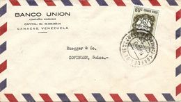 Venezuela, 1953,  Airmail Cover To Switzerland, Mi, 886, Single Franking, See Scans! - Venezuela