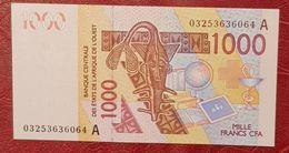 1000 Francs Banque Centrale Des états De L'Afrique De L'Ouest  Neuf - West African States