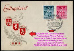 1009-GERMANY (DDR) FDC CYCLING VIII. The Peace Race-Friedensfahrt-Wyścig Pokoju-Course De La Paix-Corsa Della Pace 1955 - Radsport