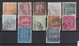 Portugal 1892,   Michel Nr. 66-77 Complete Set Fine Used, Cat Value 350 EUR - 1892-1898: D. Carlos I.