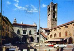 Bergamo - Città Alta - Piazza Vecchia - 18417 - Formato Grande Viaggiata – E 4 - Bergamo
