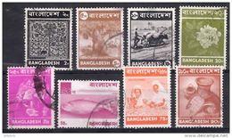 BANGLADESH 1973 Definitives 8 Values (2p, 5p, 10p, 20p, 25p, 50p, 75p, 90p) Used - Bangladesh