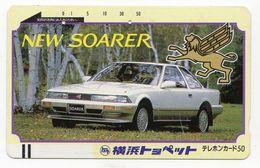 JAPON TELECARTE ANCIENNE NTT FRONTBAR BARCODE 110-4686 VOITURE SOARER - Cars