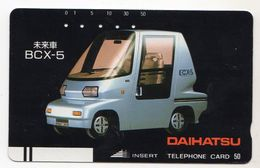 JAPON TELECARTE ANCIENNE NTT FRONTBAR BARCODE 330-0415 VOITURE DAIHATSU - Cars