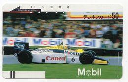 JAPON TELECARTE ANCIENNE NTT FRONTBAR BARCODE 110-5448 FORMULE 1 - Sport