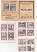 PORTUGAL VOUZELA - VINHETAS DE TURISMO ( Latina )  SERIE COMPLETA 12 VINHETAS - Dépliants Touristiques