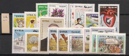 Syrie - 1998 - 18 Valeurs Entre N°Yv. 1099 Et 1116B - Neuf Luxe ** / MNH / Postfrisch - Syrie