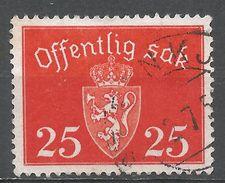 Norway 1938. Scott #O27 (U) Coat Of Arms - Service