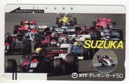 JAPON TELECARTE ANCIENNE NTT FRONTBAR BARCODE 290-013-1986 Grand Prix SUZUKA - Sport