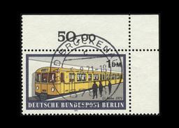 Berlin 1971, Michel-Nr. 384, Berliner Verkehrsmittel, 1,00 DM, Eckrand Oben Rechts, Gestempelt - Berlin (West)