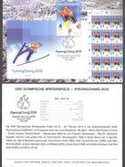Olympic Estonia 2018 Stamp  Winter Olympic Games In PyeongChang Presentation Card (germ) Mi 911 - Winter 2018: Pyeongchang