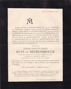 HOUTHEM-SAINT-GERLACHE LIEGE Jérome RUYS De BEERENBROUCK Président Cour D'appel De Liège 86 Ans 1889 De TIECKEN - Overlijden