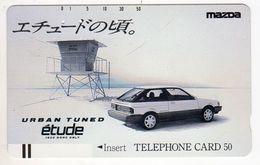 JAPON TELECARTE ANCIENNE NTT FRONTBAR BARCODE 110-17964 MAZDA - Cars