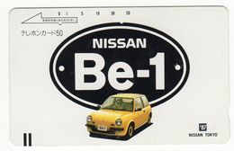 JAPON TELECARTE ANCIENNE NTT FRONTBAR BARCODE 110-20309 NISSAN Be-1 - Cars