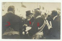 ROUBAIX  Carte Photo Visite Du  Président FALLIERES  à L'Exposition 9 Juillet 1911 - Roubaix