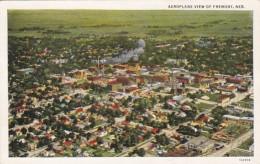 Nebraska Fremont Aeroplane View 1937 Curteich - Fremont