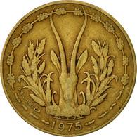 West African States, 10 Francs, 1975, TB, Aluminum-Nickel-Bronze, KM:1a - Ivory Coast