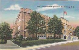 South Carolina Spartanburg Frank Evans High School Curteich - Spartanburg