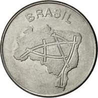 Brésil, 10 Cruzeiros, 1983, TB, Stainless Steel, KM:592.1 - Brazil