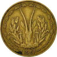 West African States, 10 Francs, 1967, TB, Aluminum-Nickel-Bronze, KM:1a - Ivory Coast