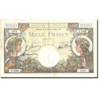 France, 1000 Francs, 1 000 F 1940-1944 ''Commerce Et Industrie'', 1941 - 1871-1952 Antiguos Francos Circulantes En El XX Siglo