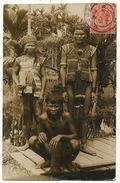 Real Photo P. Used Tribal Group . Nude Man. Borneo ? - Malaysia