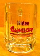 CHOPE EN VERRE BIERE GANGLOFF ( BRASSERIE BESANCON 25000 ) 33 CL - Glasses
