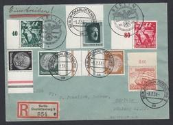 DR Einschreiben Sonderstempel Randstücke Zusammendruck ZD 1938 Berlin Nach Görlitz K591 - Germany