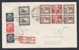 DR Einschreiben Sonderstempel Sonder R-Zettel Tag Der Briefmarke Zusammendruck ZD Randstück 1937 Berlin -> Hannover K592 - Deutschland
