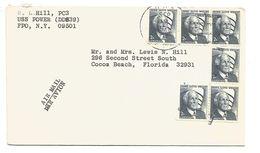USA AFFRANCHISSEMENT COMPOSE SUR LETTRE AVION DU 12/9/1971 - Poststempel