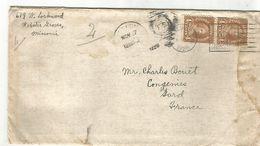 USA LETTRE DE SAINT LOUIS POUR LA FRANCE DU 27/11/1928 - Poststempel