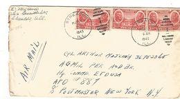 USA AFFRANCHISSEMENT COMPOSE LETTRE DE STREATOR DU 13/3/1945 - Poststempel