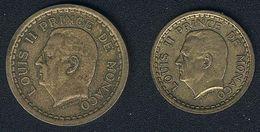 Monaco, 1 + 2 Franc(s), Aluminium-Bronze - Monaco