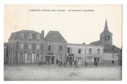 (18465-79) Argenton L'Eglise - La Place De La République - Argenton Chateau