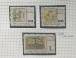 P7 Paintings - Czechoslovakia 1968 Yv. 1664-1666 MNH Cplete Set 3v. - Munich Agreement - Drawings By Children In Terezin - Unused Stamps