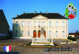 Carte Postale, Militaria, Monuments, World War I Monuments, France (Côte-d'Or), Arc-sur-Tille - Monuments Aux Morts