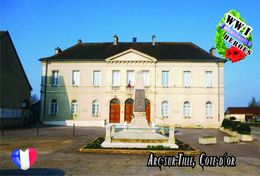 Carte Postale, Militaria, Monuments, World War I Monuments, France (Côte-d'Or), Arc-sur-Tille - War Memorials
