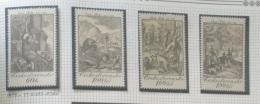 P7 Paintings - Czechoslovakia 1975 Yv. 2083-2086 MNH Cplete Set 4v. - Czechoslovak Graphic Art - Engraved Hunting Scenes - Czechoslovakia