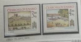 P7 Paintings - Czechoslovakia 1980 Yv. 2412-2413 MNH Cplete Set 2v. - Historic Bratislava - Czechoslovakia