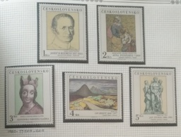 P7 Paintings - Czechoslovakia 1980 Yv. 2415-2419 MNH Cplete Set 5v. - Paintings From The National Gallery In Prague - Czechoslovakia