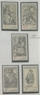 P7 Paintings - Czechoslovakia 1982 Yv. 2482-2486 MNH Cplete Set 5v. - Engravings With A Music Theme - Unused Stamps
