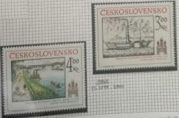 P7 Paintings - Czechoslovakia 1982 Yv. 2499-2500 MNH Cplete Set 2v. - Historic Bratislava - Unused Stamps