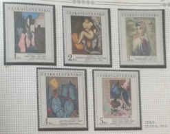 P7 Paintings - Czechoslovakia 1982 Yv. 2512-2516 MNH Cplete Set 5v. -  Paintings From The National Gallery - Nude Women - Czechoslovakia